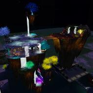 Enchanted Falls Airstrip at night