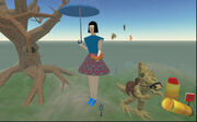 Burning Life 2003 - Giant Woman, Tree, And Alien Creature