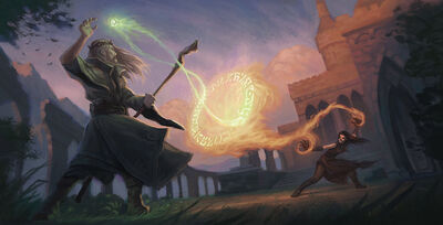 Mage duel nature and destruction by gjaldir-d7dyidd