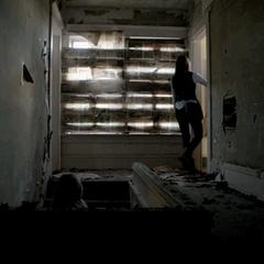 Inside, upstairs
