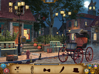 Night Street in Silhouette mode