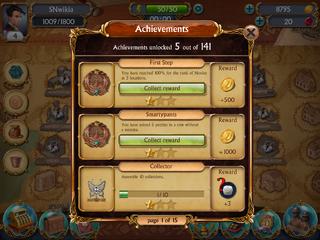 Achievements collect reward