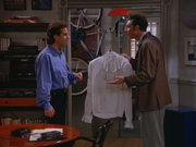5x2 Kramer and Jerry arguing over the puffy shirt