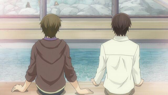 File:Yuu and Chiaki enjoy the hot springs ep10.jpg