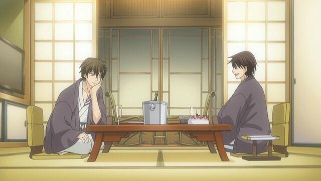 File:Yuu and Chiaki dinner at the hot springs ep10.jpg