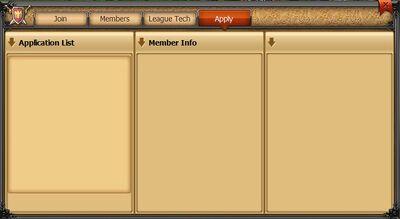 League tab apply