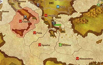 World map - Julii territory