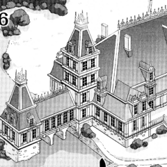 Finé's mansion in the manga.