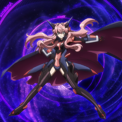 Full View of Maria's Black Gungnir from Symphogear G (Transformation Pose)