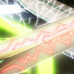 Phara destroying Tsubasa's sword.