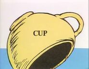 The cup itsself with pups ear showing