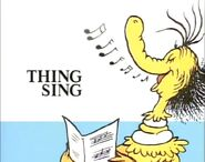 The thing is singing