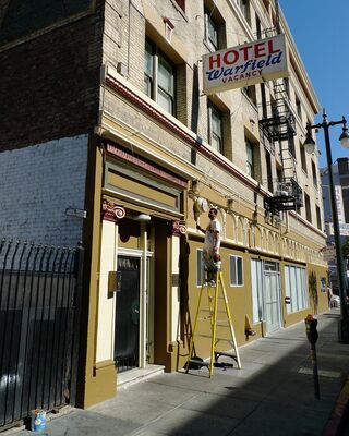 Warfield Hotel gets fresh paint