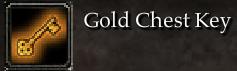Gold Chest Key