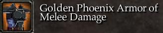 Golden Phoenix Armor of Melee Damage