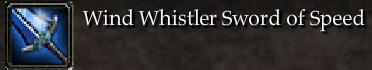 Wind Whistler Sword of Speed