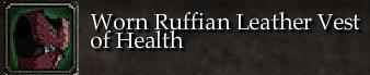 Worn Ruffian Leather Vest of Health