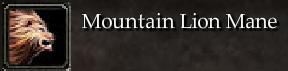 Mountain Lion Mane