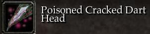 Poisoned Cracked Dart Head
