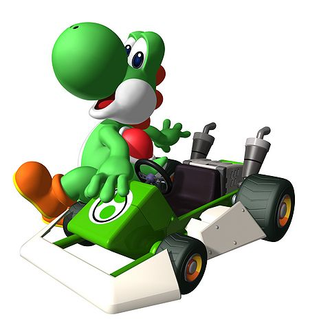 File:Yoshi and His Kart.png