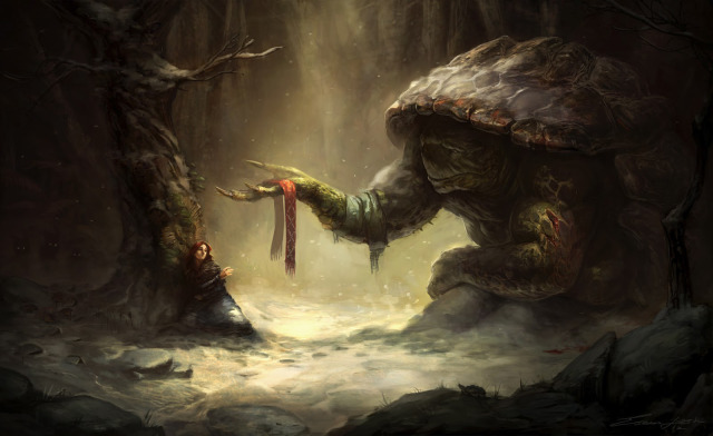 File:640x392 18077 A Kind Soul 2d illustration fantasy turtle creature picture image digital art.jpg
