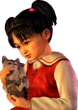 Megumi-chan and the kitten