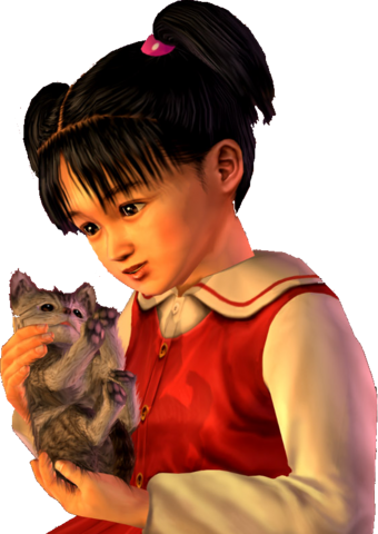 File:Megumi-chan and the kitten.png