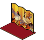 Folding Screen of Crane