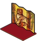 Folding Screen of Tiger
