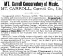 Lone Star/1883-01-24/Mt Carroll Conservatory of Music