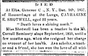 Freeport Journal.1858-02-04.Died
