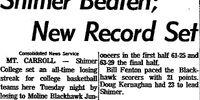 Morning Star/1963-12-11/Shimer Beaten; New Record Set