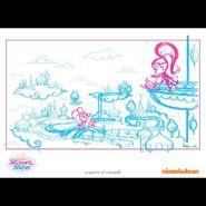 Shimmer and Shine Zahramay Falls Sketch 2013