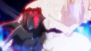 Jeanne transforming into demon
