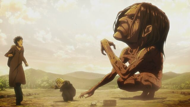 File:Ymir devours Reiner and Bertholdt's friend.jpg