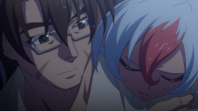 File:Jin Tojo and a Male Demon (Shinmai Maou no Testament BURST 01).jpg