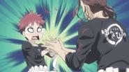 Jōichirō claps Sōma's hands