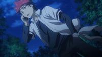 Sōma on the phone with Jōichirō (anime)