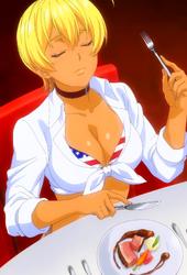 Ikumi enjoying the food