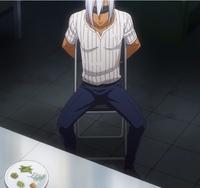Akira preparing his match against Ryo (anime)
