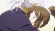 Akira hugging Jun (anime)