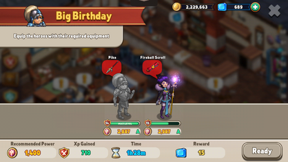 Big birthday hero quest
