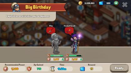Big birthday hero quest