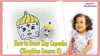 "How to Draw Shopkins Season 8 ""Kay Cupcake"" - Step By Step Easy"