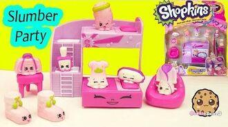 Shopkins Season 5 Playset Slumber Party Fun Collection Cookieswirlc Video