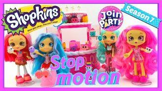 Shopkins Party Season 7 Birthday Cake Surprise Playset STOP MOTION animation ShopkinsSeason7