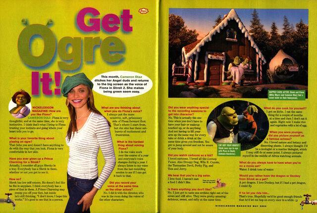 File:Cameron Diaz Nickelodeon Magazine interview May 2004 Shrek Fiona.jpg