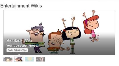 Sidekick Wiki is Featured