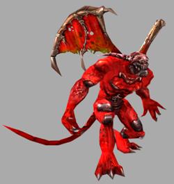 Fiendian reptiloid demon