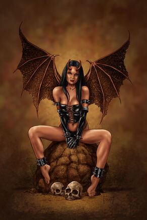 Succubus digital painting by mitchfoust